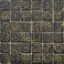 Мозаика керамическая, червлёное золото KG4804 - фото 4888