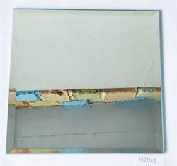 M20x1 Квадратная зеркальная серебряная плитка с фацетом 10 мм (200*200 мм) - фото 5100
