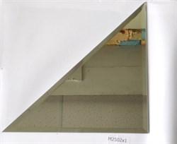 M2502x1 Треугольная зеркальная серебряная плитка с фацетом 10 мм (250*250 мм) - фото 5122