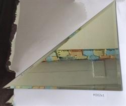 M302x1 Треугольная зеркальная серебряная плитка с фацетом 10 мм (300*300 мм) - фото 5123