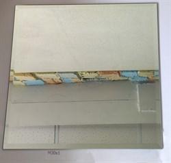 M30x1 Квадратная зеркальная серебряная плитка с фацетом 10 мм (300*300 мм) - фото 5125