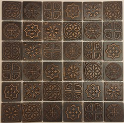 Мозаика керамическая, бронзовый отлив KG4802 - фото 5142