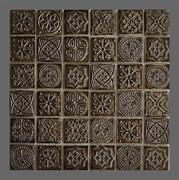 Мозаика керамическая, серо-зеленый отлив KG4803