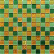 Мозаика стеклянная, желто-зеленая F41.30.25.58