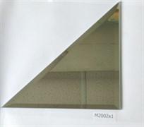 M2002x1 Треугольная зеркальная серебряная плитка с фацетом 10 мм (200*200 мм)
