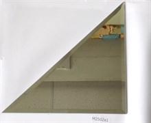 M2502x1 Треугольная зеркальная серебряная плитка с фацетом 10 мм (250*250 мм)