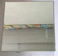 M30x1 Квадратная зеркальная серебряная плитка с фацетом 10 мм (300*300 мм)